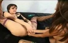 Jenna Haze double fisting Belladonna's holes