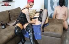 Cherie Noir stretching BBW pussy
