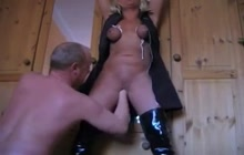 Bound bitch fisted and fucked